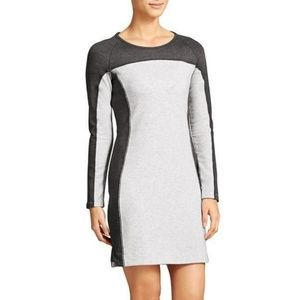 Athleta Omega Dress in Gray Colorblock